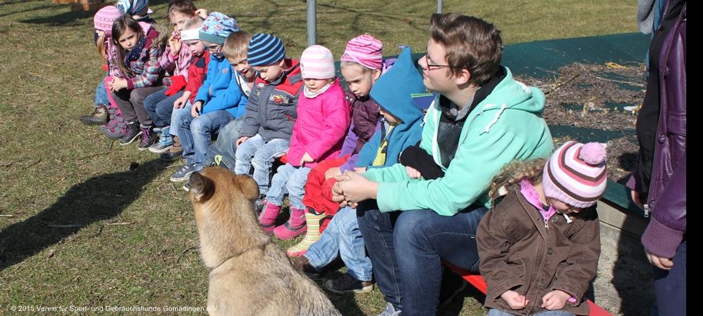 Projekt Hund im KiGa Rietheim